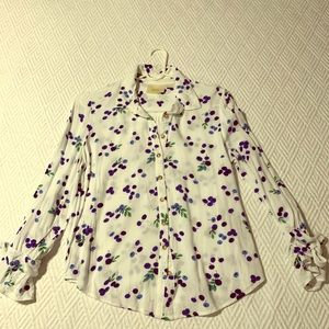 Anthropologie White Maeve Blithe Button-down Top